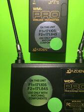 Azden WDR-Pro/WM-Pro Wireless receiver/transmitter w/ mic