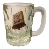 """Vintage Dog N Suds Glass Mug Cup Drinkware Root Beer 4 1/2"""""""