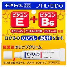 Shiseido moilip N 8g, for lip cracking, sores and cheilitis, Anti-inflammatory