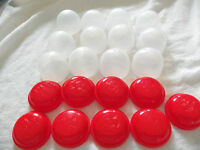 "2""  EMPTY RED VENDING CAPSULES          BOX of 100   Tops & Bottoms"