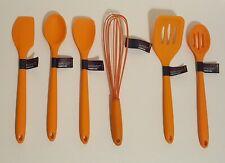 6pc Farberware Silicone Kitchen Utensil Set Whisk Spoons Spatula Turner Spoonula