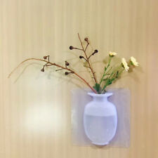 Silicone Unique White Designer - Bud Flower Half Vases for Wall - Home Decor