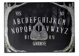 A4 Wooden Eerie Owl Ouija Board Game, Dark Ouija Board with 3D Owl Planchette