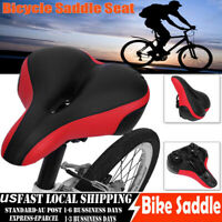 Comfort Extra Wide Big Bum Bike Bicycle Gel Cruiser Pad Saddle Seat Sporty New