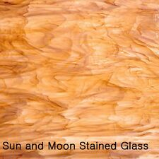 Spectrum Stained Glass Sheet S315-2 - White and Medium Amber