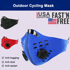 Reusable Activated Carbon Cycling Half Face Mask with Filters 2 valves PM 2.5 #