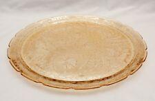 Jeannette Glass Louisa Florigold Carnival Luster Platter 13 Inches Diameter