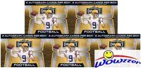 (5) 2020 Leaf Draft Football Factory Sealed 20 Pack Blaster Box-10 AUTOGRAPHS !