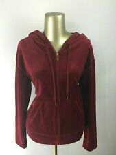 JONES NEW YORK Full Zip Up Long Sleeve Maroon Hoodie Sweatshirt Women's Size S