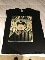 Rise Against Shirt Sleeves Cut Size XL Punk