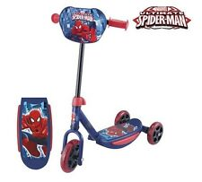 New Red Spiderman Tri Scooter First Push outdoor Ride Kid Boys Toddler Children