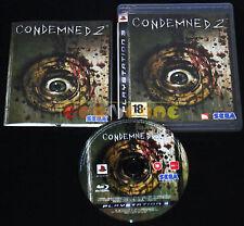 CONDEMNED 2 Ps3 Versione Ufficiale Italiana 1ª Edizione ••••• COMPLETO