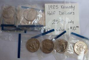 20 Lot 1985 Kennedy Half Dollar Ps Only Philadelphia 50c Coin