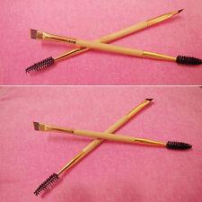 NEW Beauty Makeup Bamboo Handle Double Eyebrow Brush + Eyebrow Comb