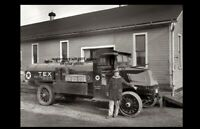 Vintage 1925 Texaco Gas Truck PHOTO Service Station Oil Truck