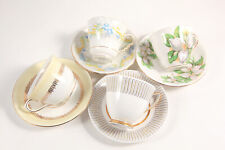 Lot 4 Assorted Teacup Saucer Sets Royal Albert Royal Stafford Floral Tea Party