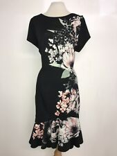 COAST - Ladies STUNNING BLACK Floral DRESS - Size 18 - BNWT - GORGEOUS