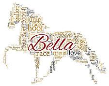 Horse Personalised  Word Art print