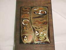 ELEANORE SLOBIN MODERN CLOISONNE ENAMEL COPPER ART PLAQUE MIDCENTURY ABSTRACT NR