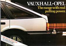 Vauxhall Opel Towing 1982 UK Market Brochure Chevette Astra Cavalier Manta Monza
