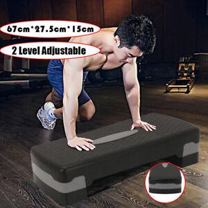 UK 2 Level Aerobic Stepper Step Aerobic Stepper Step Fitness Training Yoga Gym