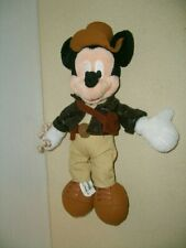 """New listing Disney Parks 11"""" Mickey Mouse As Indiana Jones Plush Toy Figure New Rare"""