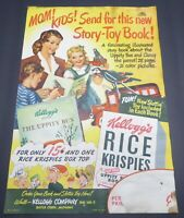 VINTAGE KELLOGG CEREAL DISPLAY POSTER ADVERTISING BRONX RICE KRISPIES UPPITY BUS