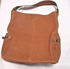 Neiman Marcus Brown Leather Satchel Shoulder Handbag