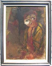 Alberto CAVALLARI (Bondeno, Ferrara 1924 - Modena 2016) Pensierosa OLIO cm 80x60