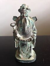 Fine Antique Chinese Bronze Immortal God Fu Lu Shou Statue Figurine Buddha Art