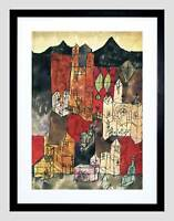 PAUL KLEE CITY OF CHURCHES 1918 OLD MASTER BLACK FRAMED ART PRINT B12X1454