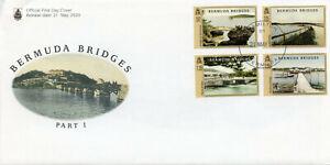 Bermuda Architecture Stamps 2020 FDC Bridges Landscapes Boats Tourism 4v Set
