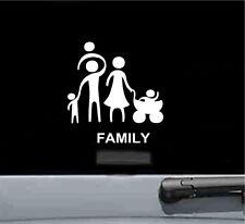 Family stick figures vinyl decal sticker cute car truck love