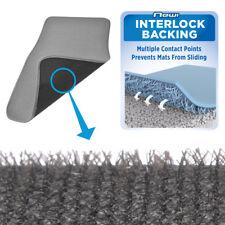 Secure Interlocking Car Carpet Floor Mats for Front & Rear - Light Gray