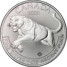 Canada 2016 Predator Series: Cougar .9999 Fine 1 oz Silver $5 Coin Bu Nice!