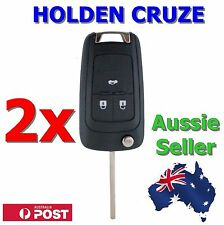 2x Holden Barina/Cruze/Trax 3 Button Remote Flip Key Blank Shell/Case/Enclosure