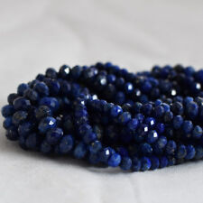 Grade A Natural Lapis Lazuli Gemstone FACETED Rondelle Beads - 3mm 4mm 6mm 8mm