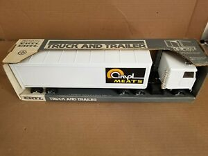 Vintage Ertl Chevy Titan COE Semi Truck and trailer metal Must see! Very nice!