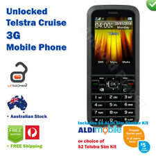 Brand NEW Telstra Cruise 3G Mobile Phone + BONUS $5 ALDI or $2 Telstra SIM Kit