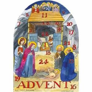 Religious Matthew Rice's Christmas Nativity Advent Calendar