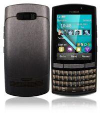 Skinomi Full Body Brushed Steel Phone Skin+Screen Protector for Nokia Asha 303