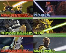 STAR WARS CLONE WARS WIDEVISION 2009 U PICK SINGLE FOIL CHARACTER INSERT CARDS