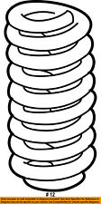 FORD OEM 92-96 E-350 Econoline Club Wagon Front Suspension-Coil Spring F2UZ5310A