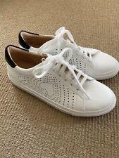NWOB Kate Spade Ashlyn Womens Size 8 White Black Leather Tennis Shoes Sneakers