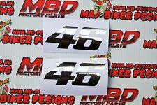 Valentino Rossi 46 MotoGP Yamaha M1 R1 YZF Cromo Pegatina De Vinilo