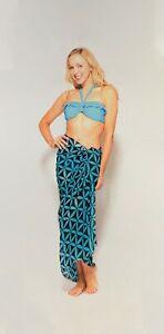 Sarong Women's Large Coral Bay Mono Geo Beach Sarong Sun Dress Shawl Stole Scarf