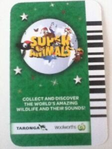 Collectable Full Whole Set of 72 Cards - Woolworths Green Super Animals Cards