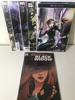 BLACK WIDOW (2019) #1 2 3 4 5 1-5 1ST PRINT SET NM MARVEL COMICS + Bonus