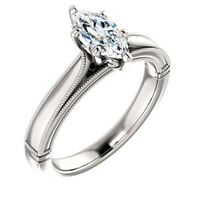 Classic 925 Silver Pear Cut White Sapphire Engagement Ring Bridal Jewelry Gifts