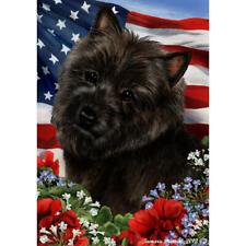 Cairn Terrier Black Patriotic Flag
